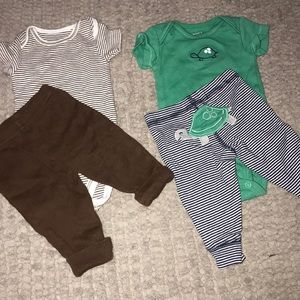3 Outfit Carter's Bundle Sz NB